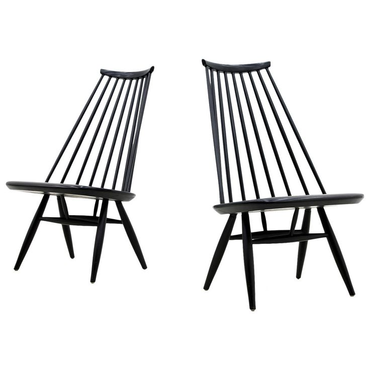 Pair of Mademoiselle Lounge Chairs by Ilmari Tapiovaara for Asko | See more antique and modern Lounge Chairs at http://www.1stdibs.com/furniture/seating/lounge-chairs
