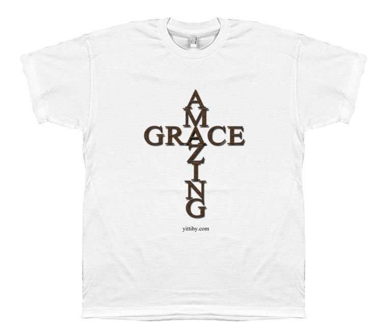 Mns Amazing Grace Christian T Shirt design by Yittiby.com