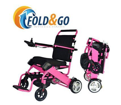 Pink FOLD-N-GO Power Wheelchair