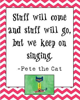 Pete the Cat Motivational Poster