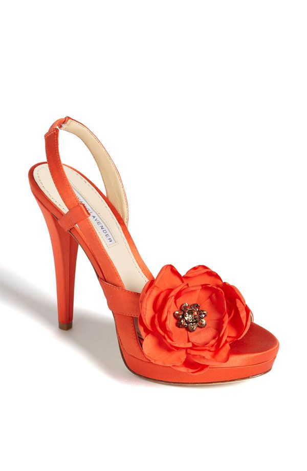 Must. Find. These. Shoes. These are beautiful and would go great with an orange themed wedding!