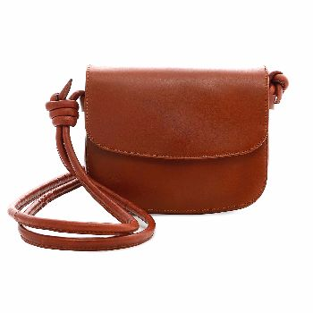 La Portegna Lucia Mini Tabaco Leather Handbag: Small tabaco brown shoulder bag made from our super-soft leather with a suede interior that will hold your daily essentials and much more. The organic design, with its fold-over flap, is metal free. The strap features a sliding knot, allowing you to adjust the bag. The Lucia mini tabaco leather handbag features an interior pocket for your cards. Handmade in Spain.