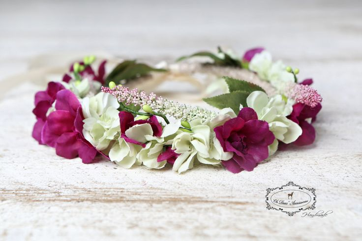 Flower crown, floral headband, nature inspired, fairy birthday party, photo prop, photo session, flower girl,boho ,wedding by OhDearAccessories on Etsy