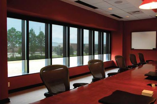 Perfect window covering solutions for office buildings. No wiring, no electrician required. These blinds are #wirefree #wireless #nowires #remotecontrol #smartphoneapp #tabletapp #noelectricianrequired #cordless #largewindows #smallwindows #windowblinds #windowshades #windowcoveringsolution #prettywindows  #smartblinds #homedesign  #interiordesign #redesign #motorisedblinds #automatedblinds #batteryoperated #officewindows #officeblinds #officewindowblinds