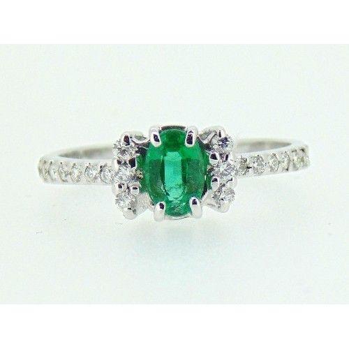 Anello smeraldo e brillanti cod. TR 3870