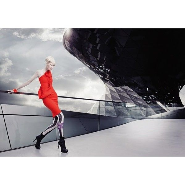 Maureen's World Futuristic Fashion Editorial from Fashion Trend... ❤ liked on Polyvore featuring backgrounds
