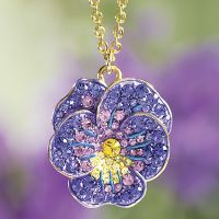 Crystal Pansy Pendant