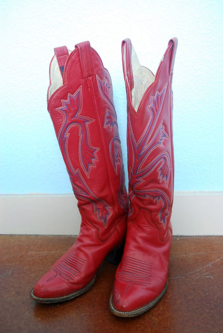 17 Best ideas about Red Leather Boots on Pinterest | Vintage boots ...