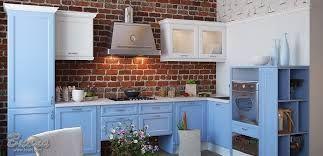 Картинки по запросу синяя кухня в стиле лофт