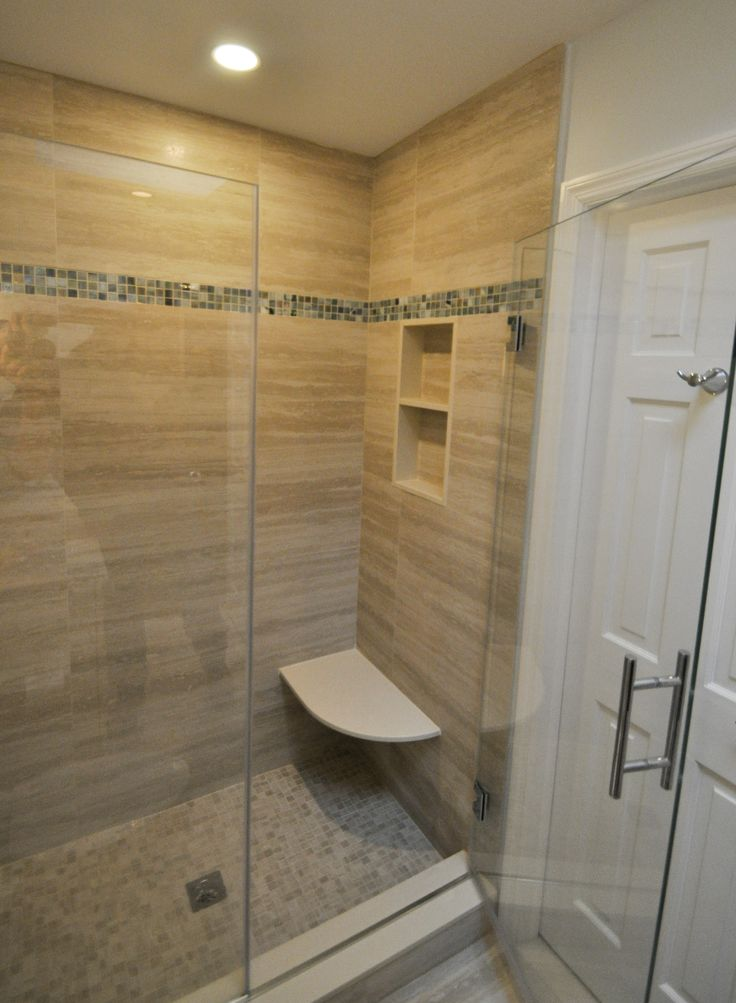 Stand Up Shower With Built In Bench Seat And Niche