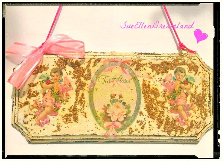 thanksgiving angel decorations, Shabby chic decoupage wall hanging, angel boards, Dining room decor, hostess gifts, closet door decor