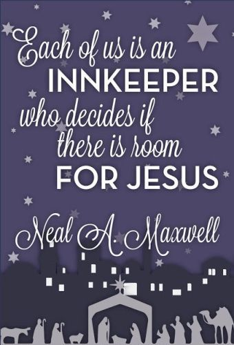Merry Christmas quotations 2016 for friends,family on Facebook,whatsapp,Pinterest and Instagram.The quotation reads..each of is an innkeeper who decides if there is room for Jesus. #MerryChristmasMessages