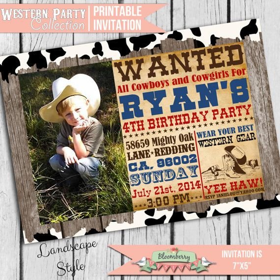 17 best ideas about cowboy party invitations on pinterest   horse, Party invitations