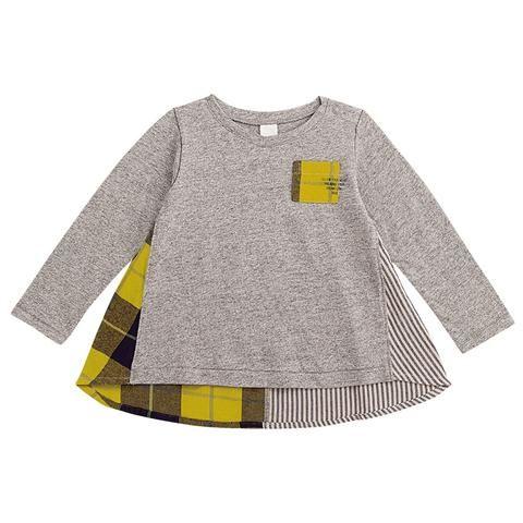 ポケットデザイン長袖Tシャツのグレー120cm(48.5・33・42)の通販なら赤すぐ
