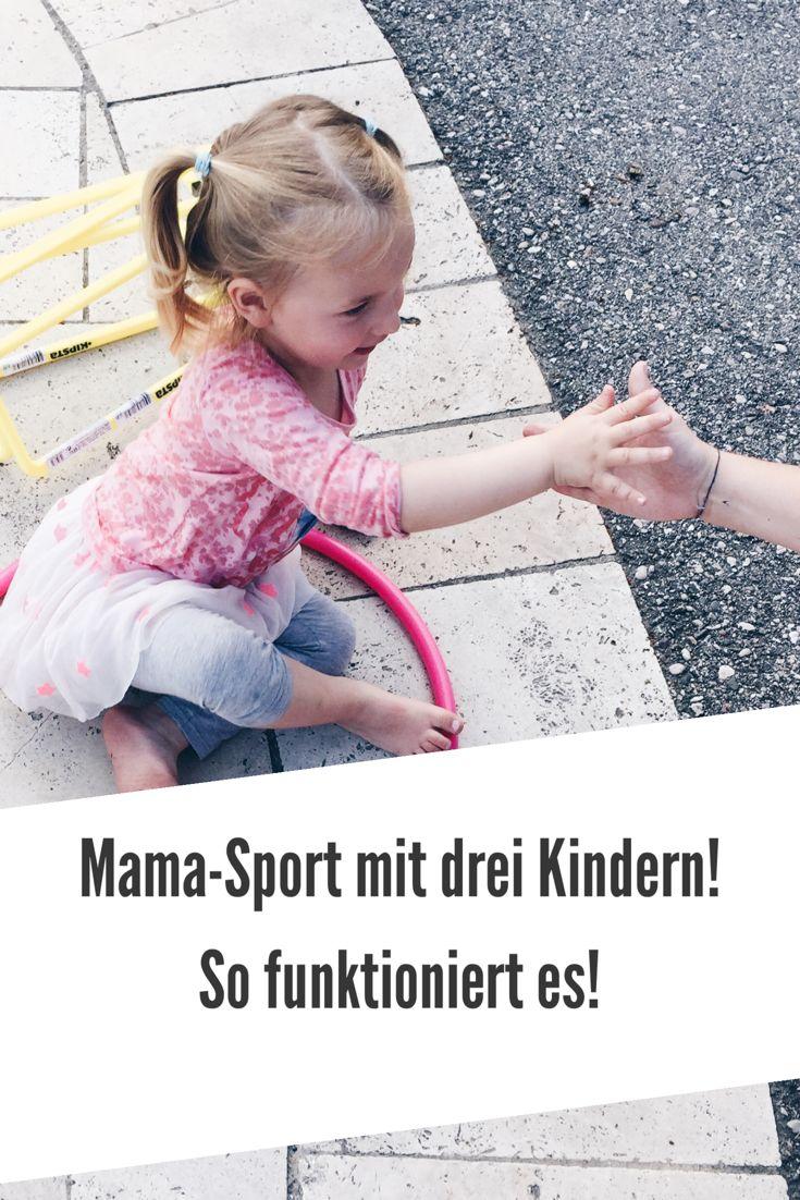 Sport oder Laufen mit drei Kindern. Es kann funktionieren