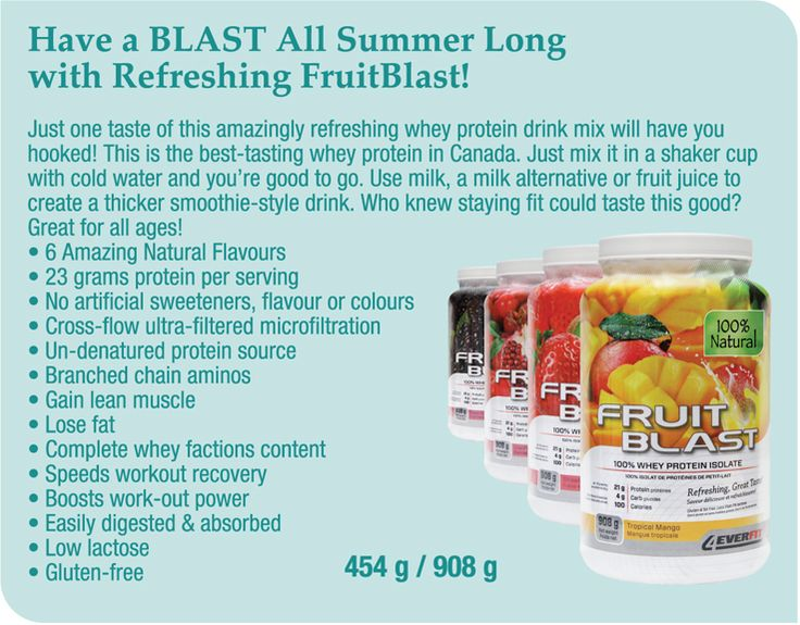 Mix any Fruit Blast into a smoothie for a tasty summer treat!