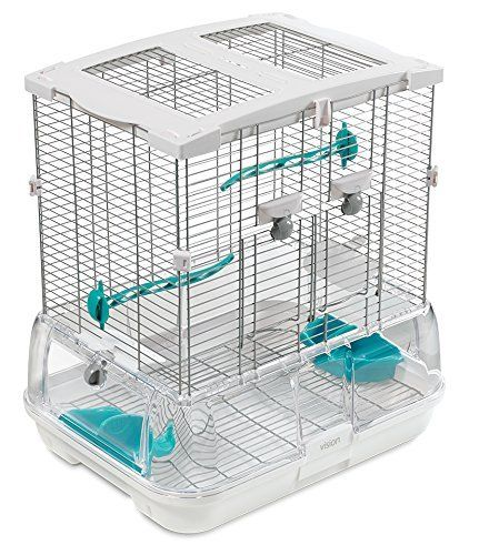 Hagen Hagen Vision 2 Bird Cage    This Large Vision 2 Home from Hagen appropriates for Budgies, Finches, Canaries and Lovebirds. Features:   - A special base, developed to make less mess, it has a particles guard and the placement of the seed and water cups assist retain waste inside the cage. It has actually raised ridges on the inside to provide much better air flow and assistance avoid mildew.   - Consists of a double compartment seed/water cup that has outside access to lower tension to…