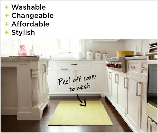 Washable Area Rugs - good idea for kitchen runner and dining room.