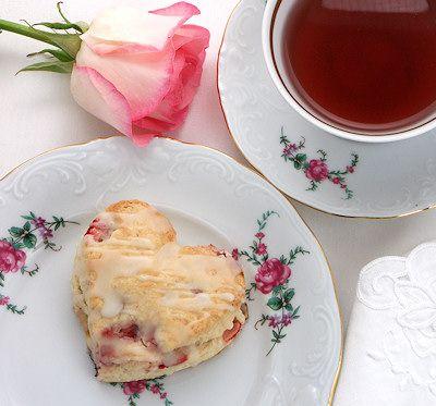 Strawberry Cream Cheese Valentine Scones