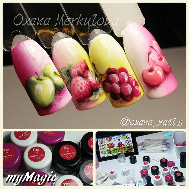 Oxana Merkulova @oxana_nail.s Куда же без вишен...Instagram photo | Websta (Webstagram)