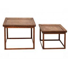 Set van 2 tafels Carlo in het koper