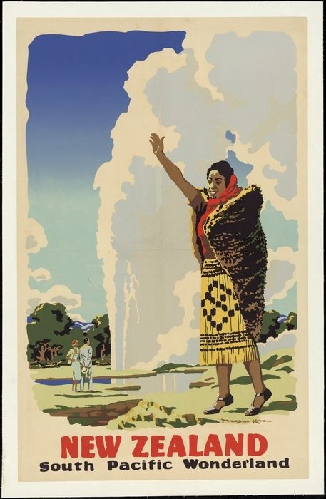 King, Marcus, 1891-1983 :New Zealand, South Pacific wonderland [Pohutu Geyser. 1950s]