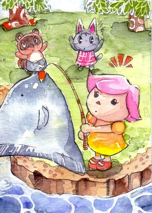 169 best animal crossing images on pinterest fan art for Animal crossing mural
