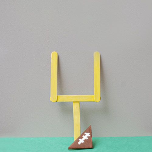 How to Make a Mini Field Goal - Sports Crafts