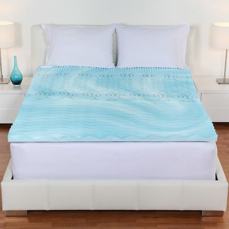 King Size Orthopedic Memory Foam Mattress Firm Gel Pad Bed Topper 2 Inch Cover #OrthopedicMemoryFoamMattress