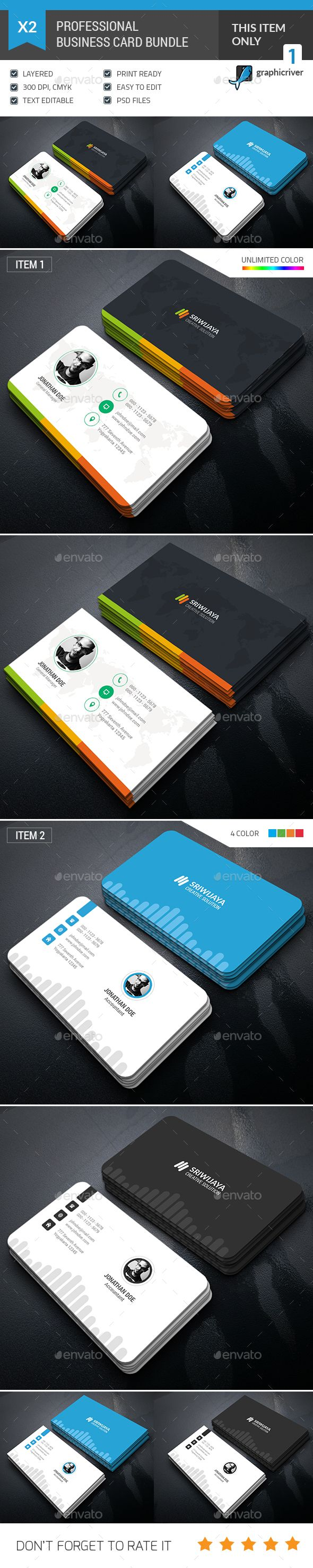 2 Business Cards Templates PSD. Download here: http://graphicriver.net/item/business-card-bundle/16154158?ref=ksioks