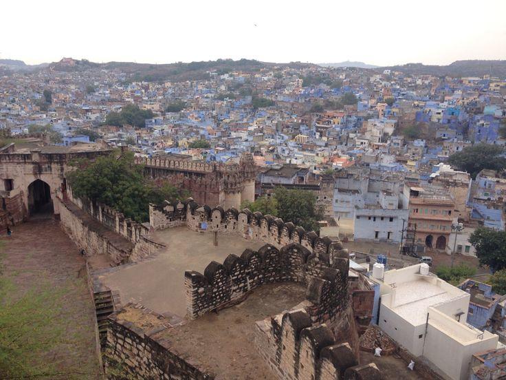 A view of the Blue city of Jodhpur, Rajestan, from Jodhpur fort