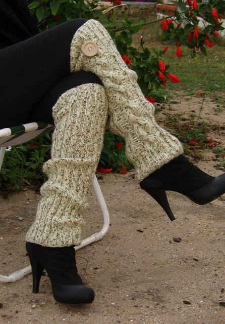 Hand Knit Leg Warmer  Womens Wool Leg Warmer Legwarmer  Fall Autumn Winter  valentine's day Fashion Accessories valentiens fashion. $34.00, via Etsy.