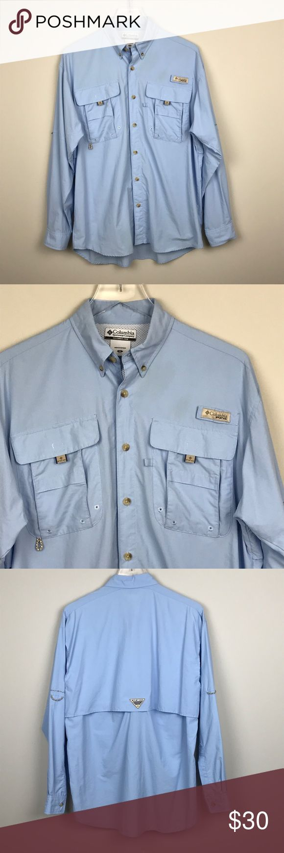 """[Columbia] PFG Shirt Omni Shade Vented Long Sleeve ▪️Pit to Pit: 23"""" ▪️Length: 30"""" ▪️Condition: Pre-Owned. Excellent condition.  ▫️MM4 Columbia Shirts Casual Button Down Shirts"""