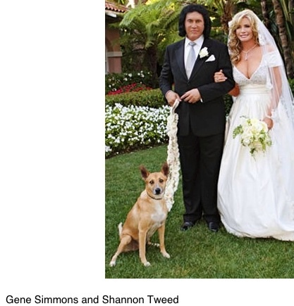 Gene Simmons and Shannon Tweed on their wedding day