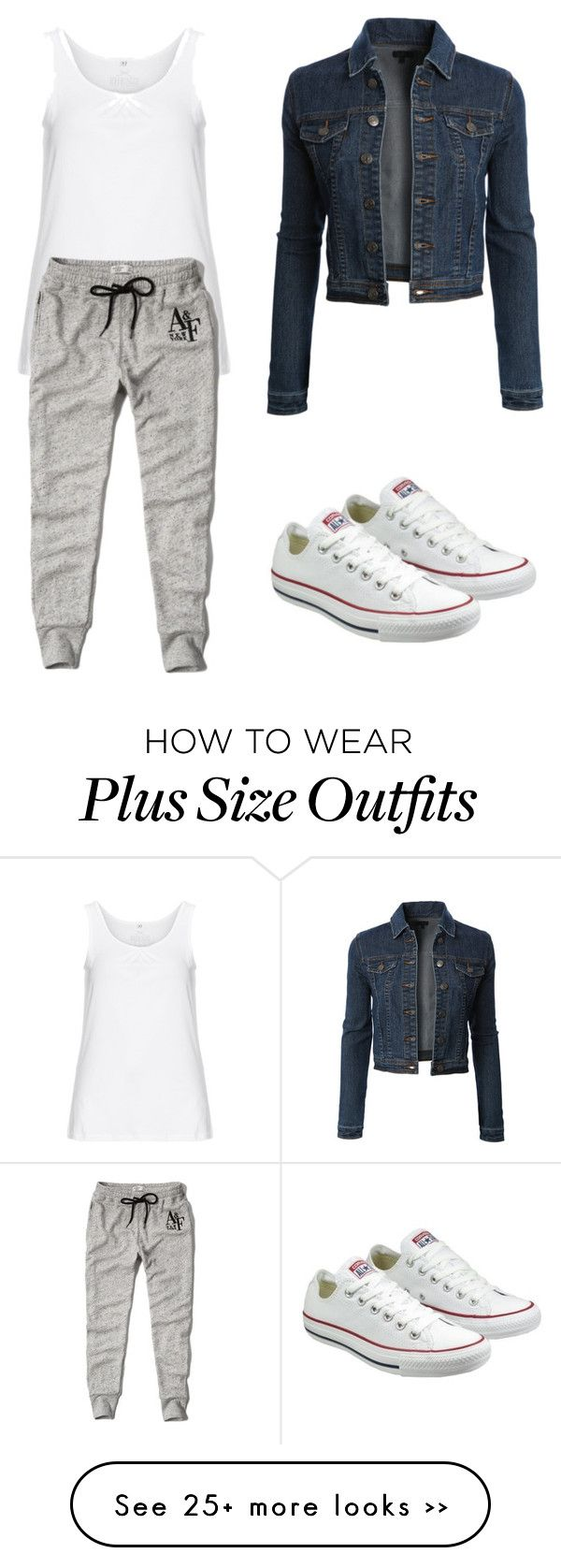 """""""Trending 585"""" by ayannap on Polyvore featuring LE3NO, Zhenzi, Abercrombie & Fitch and Converse"""