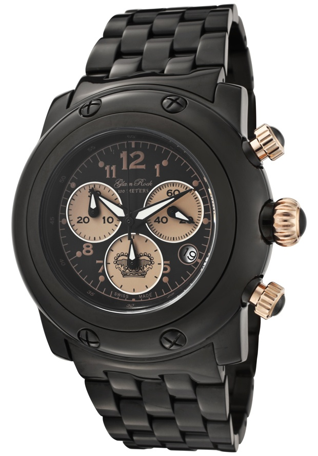 Price:$324.00 #watches Glam Rock GK1116, Add an understated look to your outfit with this unique and detailed Glam Rock watch. This timepiece offers a silver guilloche dial in a stainless steel case.