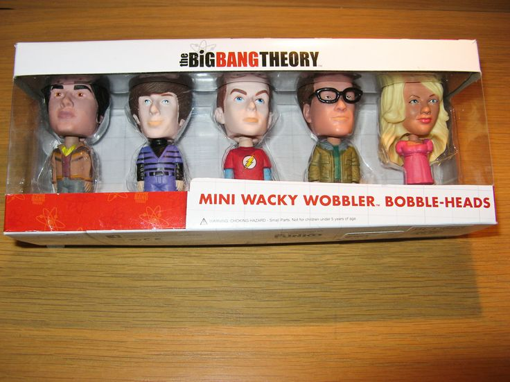 Set of 5.  Mini Wacky Wobbler Bobble Heads - Big Bang Theory.  Available at Best of Friends Gift Shop in the lobby of Winnipeg's Millennium Library. 204-947-0110 mailto:info@friendswpl.ca