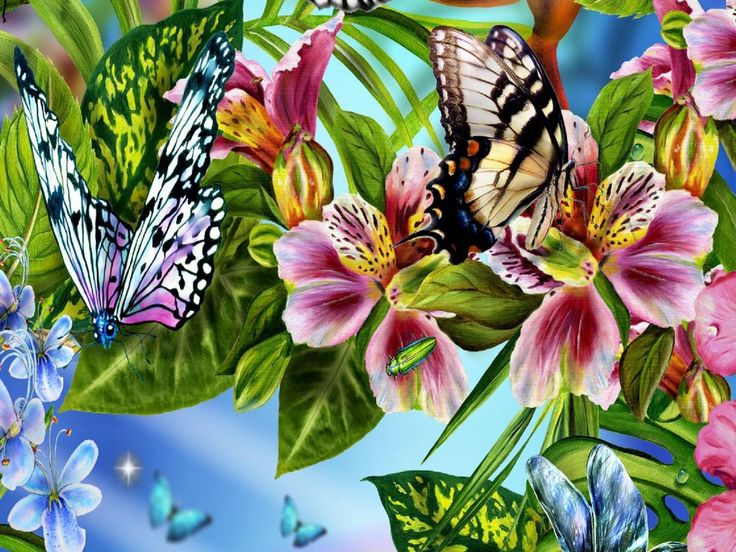most beautiful flowers wallpapers butterflies - photo #11