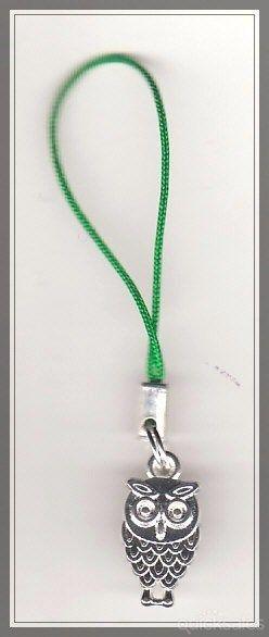 Owl Charm Mobile Phone/Bag Dangle  by MadAboutIncense - $6.50
