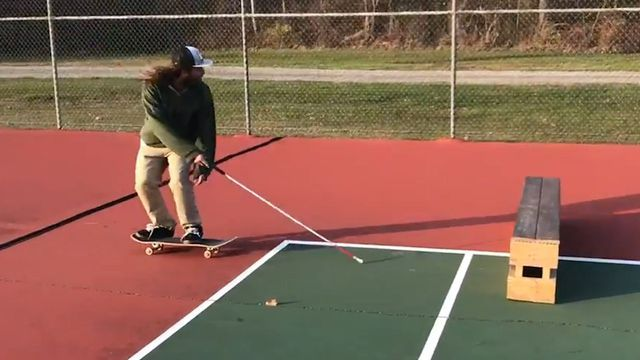Dan Mancina is showing off his skating skills to challenge presumptions people may have about blind people. The 29-year-old hopes to win a grant to fund a global tour as an ambassador for blind ambition from the LightHouse for the Blind and Visually Impaired institute. http://mashable.com/2017/02/08/blind-skater-humans-amazing/?utm_cid=sv-nextup-right#iX.4K07cIOqh