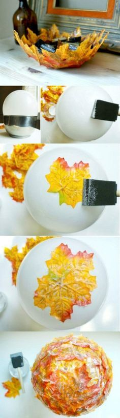 Beautiful autumn leaf bowl But you should not confine yourself only to autumn. Spring has more leafs.