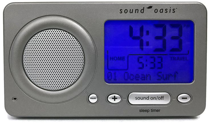 Sound Oasis S-850 Travel Sleep Sound Therapy System Travel Alarm Clock Timer #SoundOasis