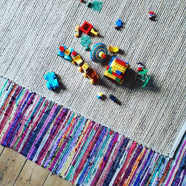 Playing catch up from yesterday's  #myhousethismonth DAY 8: ON THE FLOOR. We have no fancy tiles so here's an #instareality shot of our #duplo littered floor. . . . . . #onthefloor #toddlerlife #layeredrugs #ragrugs #interior123 #interiors #instahome #interiordesign #interiorinspo #livingroom #livingroominspo #colourfulinteriors #hyggehome #toys #myhome #flooringinspo