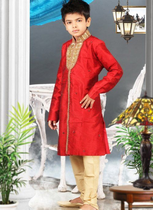 Ethnic Red Kids Boys Wear