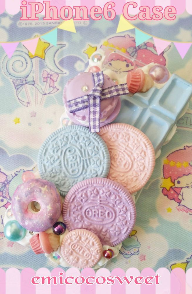 Kawaii Decoden Phone case iPhone6 case,Oreo Cookie Cute Decoden Phone case