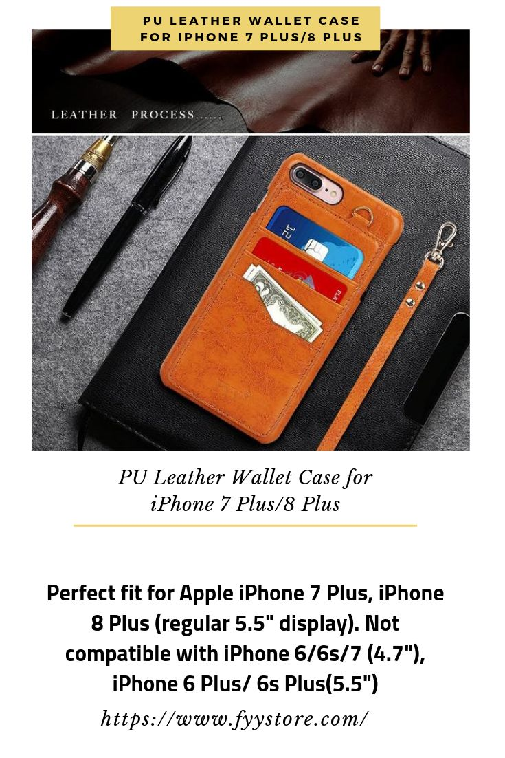 US$16.99-FREE SHIPPING FOR PU Leather Wallet Case for iPhone 7 Plus/8 Plus-GET 10% OFF WITH COUPON.