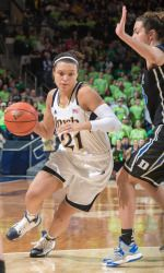 Kayla McBride scored 31 points and No. 2 Notre Dame jumped to an 18-point lead early and held on to beat seventh-ranked Duke 81-70 Sunday.