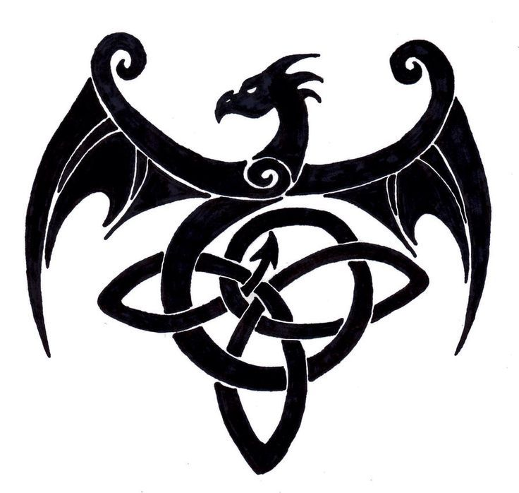 simple celtic dragons - Google Search
