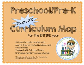 A curriculum map identifies the core skills and concepts that will be taught in a classroom.  Just as we use Google Maps to figure out where to go on the road, teachers use a curriculum map to see what lies ahead for their teaching.  This PreK/Kindergarten Thematic Curriculum Map lays out the entire year, from August to July, for all subject areas using themes rooted in science or social studies concepts.