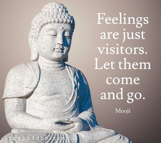 Feelings are just visitors. Let them come and go. Love this inspirational quotes. Such a great reminder. Lovingthyself.net